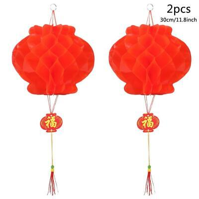 2pcs Chinese Red Lanterns For New Year Chinese Spring Festival Wedding OK 01