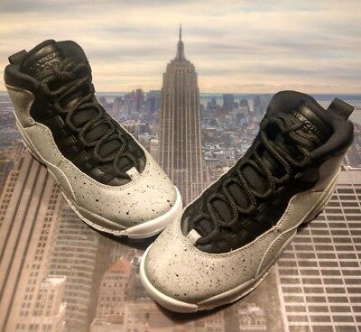 37c4d2f9fcc Nike Air Jordan X 10 Retro Cement Smoke Grey GS Grade School Size 4Y 310806  062