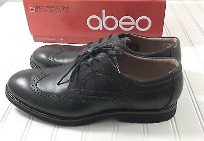 3672b199c87 Abeo Mens size 11.5 Dress Shoes Lace Up Leather Wing Tip Loafers Bio System