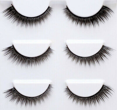 5dc1f6e2d64 3 Pairs False Eyelashes Long Makeup Handmade 3D Magnetic Mink Extension  lashes