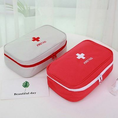 First Aid Kit Bag Emergency Medical Survival Treatment Rescue Box Outdoor/Home