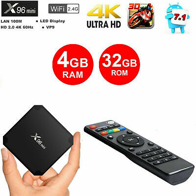 X96 Mini Android 7.1 S905W 4GB 32GB KODI TV BOX 4K IPTV Decoder TV MINI PC