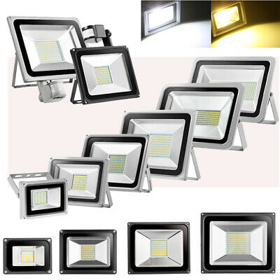 LED Flood light 10W 20W 30W 50W 100W PIR Sensor IP65 Outdoor Security Spot Lamp