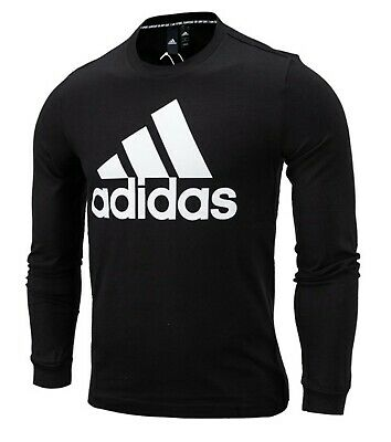 Adidas Men Must Have BOS Shirts L/S Black Running Tee Jersey GYM Shirt DT9940
