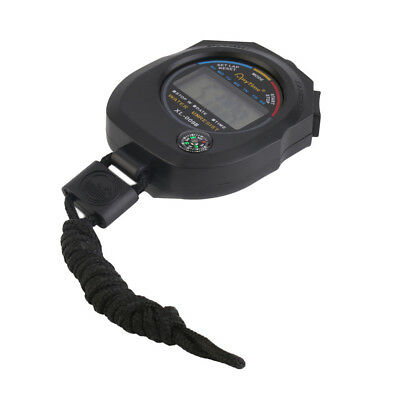 Waterproof Outdoor Sports Alarm Stopwatch LCD Counter Electronic Wristwatch