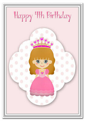 4th Birthday Cards For Girls