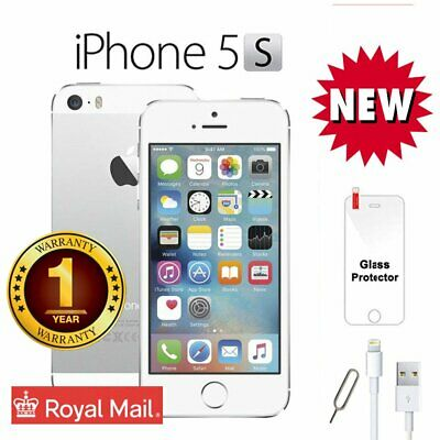 New Apple iPhone 5s 16GB 4G LTE Factory Unlocked Smartphone - White Silver UK