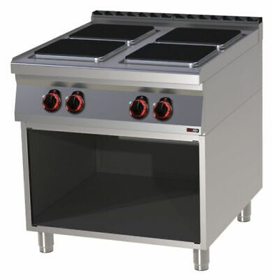 Electric Stove with Open Base, 800x900x900 mm, 4 Panels