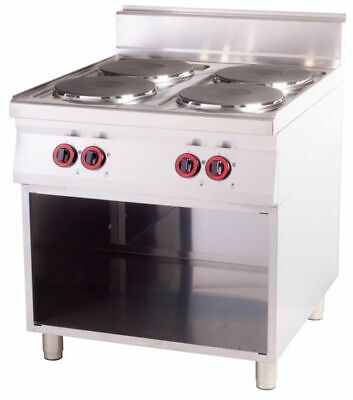 Electric Stove with Open Base, 800x900x900 mm, 4 Panel
