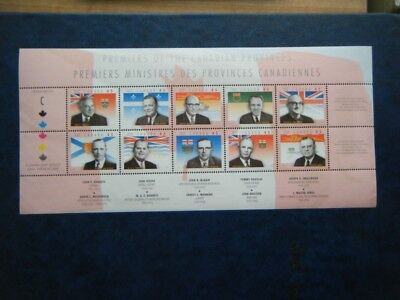 Canada#1709 MNH Pane of 10 'Provincial Premiers'