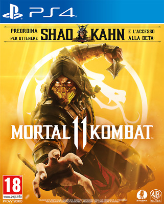 Videogames Mortal Kombat 11 Playstation 4 Ps4  Ita Standard Edition Preorder