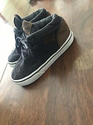 294dcaad4e Toddler Boys Vans Half Cab Grey Brown HighTop Sneaker Shoe Sz. 9.5 M EUC