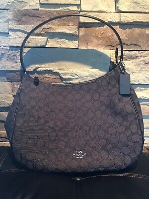NWT COACH F29959 Signature Jacquard Zip Shoulder Hobo Bag Black ... bd4811c7a051e