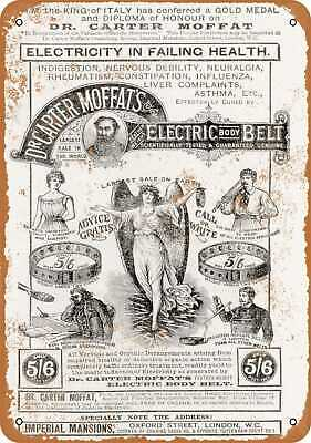 1892 Electric Body Belt Cure - Rusty Look 10x14 Metal Sign