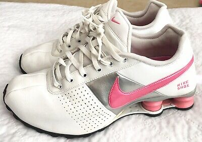 3b867b74700 Nike Shox Deliver Women s Size 8 Classic II Running Shoes 317549 White  Pink