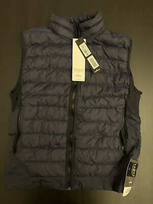 4e0f2aab8c53d Stone Island Vest G0124 Garment Dyed Micro Yarn Down Packable Navy Blue
