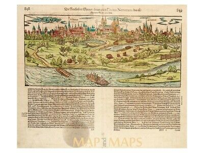 Spires Germany Antique Woodcut Speyer by Munster 1550