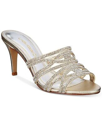 22e861e7c442 Caparros Impulse Open Toe Sandal Pumps High Heel Shoes GOLD Size 7.5 M -NEW-