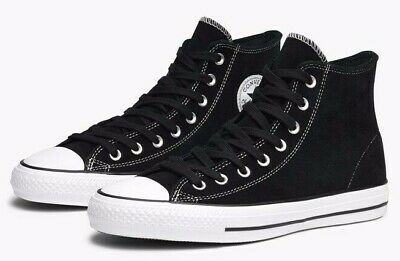 d7bff59031ca0a Converse Chuck Taylor All Star Pro Hi Suede Skateboard Shoes 144587c Black  White