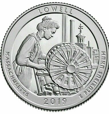 2019-P ~ Lowell National Park Quarter Massachusetts~~Brilliant Uncirculated ~BU