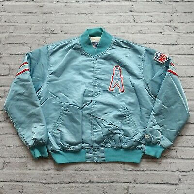 85b8e1ff3 Vintage 90s Houston Oilers Satin Jacket by Starter Size XL