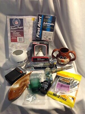 Junk Drawer Lot Misc Stuffs Priced To Sell Quick Timer,Stapler,Pga Cup,Nfl Razor