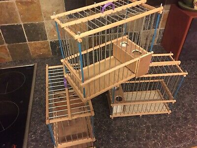 Hand Crafted Wooden Bird Cage Ideal For Mules Golfinch And Canary