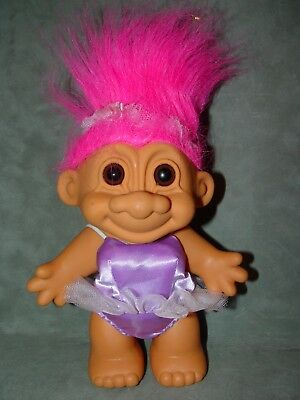 "Troll Doll  7"" Russ Large Purple Ballerina"