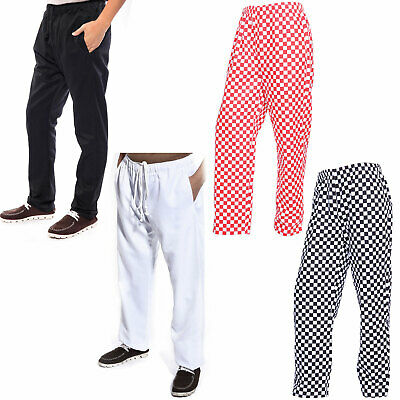 Chef Trousers Catering Pants Kitchen Trousers Large Check 3 Pockets