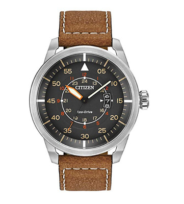 Stainless Steel Watch Citizen Mens Eco Drive Stainless Steel Waterproof Brown