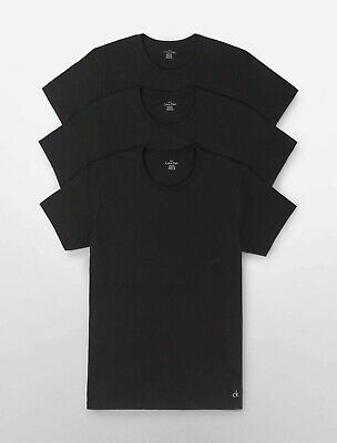 CalvinKlein Men's  3 Pack crew Neck T-Shirts Classic FiT