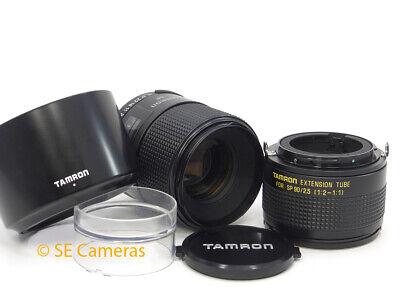 Tamron Adaptall 2 Sp 90Mm F2.5 Macro Lens 52Bb C/w Extension Tube 18F *pristine*