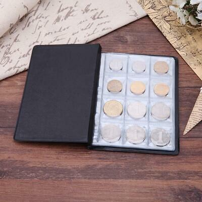 120 Slots Coin Penny Collecting Holder Pockets Storage Folder Album Book Sle A#S