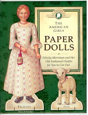 THE AMERICAN GIRLS FELICITY Paper doll dolls booklet 1992 UNCUT
