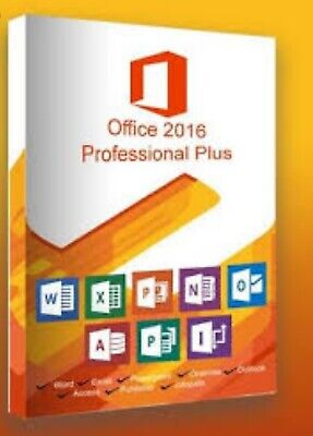 OFFICE 2016 PRO PLUS 32/64 BIT Instant KEY Delivery 100% Genuine