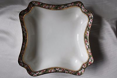 Vintage POMPADOUR DISH Square Plate Made in England