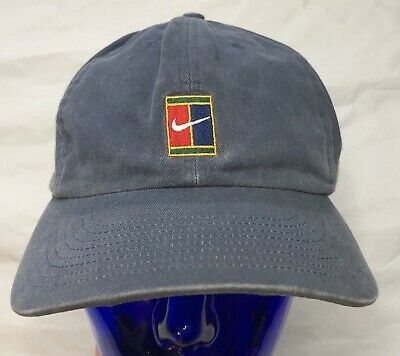 7e67cceb0e9 Nike Hat Supreme Court 90s Vtg Strapback Cotton Tennis Sports Sampras Cap