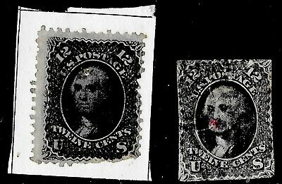 US Stamps - Scott #69 - USED - 12 cent Washington Issue - CV  $95