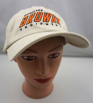 abf441d7 CLEVELAND BROWNS EQUIPMENT Hat Beige Fitted Elastic Baseball Cap Pre-Owned  ST186