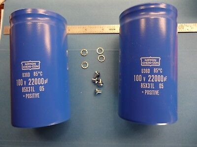 22000Mfd 100 Volt Nippon  Caps For Hafler Dh-500 Phase Linear 700 Others