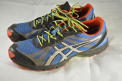 05b832bfef6b Mens ASICS Gel Fuji Racer Trail Blue Orange Running Shoes Size 12 US 46.5  EUR