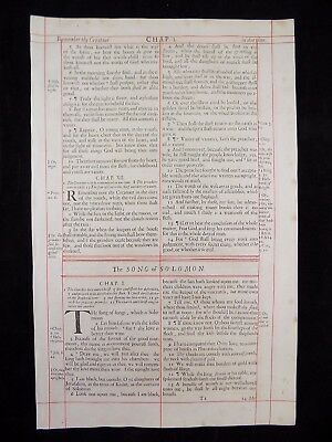 1680 Oxford First Folio King James Bible Leaf * Title Page Solomon's Song *  Vgc