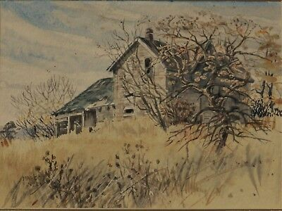 MARGOT FINLEY 1916-2001,  Canadian/ Meaford Ont. artist.  Original Watercolor