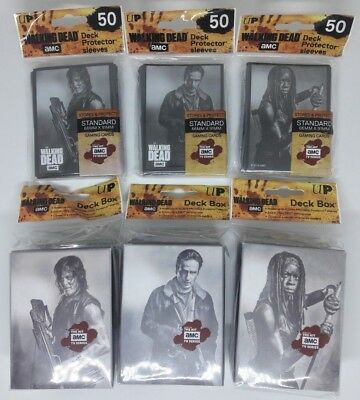 Ultra PRO AMC The Walking Dead Card Sleeves and Deck Box Set Daryl Rick Michonne
