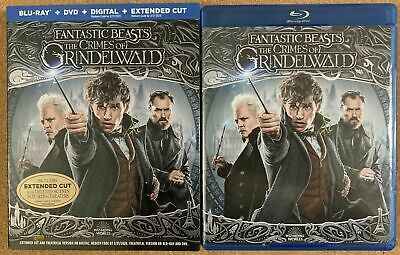 Fantastic Beasts The Crimes Of Grindelwald Blu Ray Dvd 2 Disc + Slipcover Sleeve