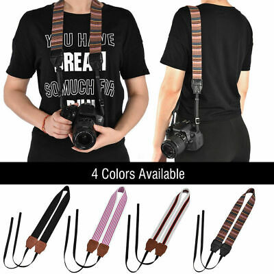 Universal Vintage Cameras Shoulder Neck Belt Strap For Canon Nikon Sony SLR DSLR