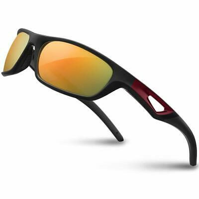 4d1f8b788a RIVBOS Polarized Sports Sunglasses Driving Glasses Shades for Men TR90  Unbreakab