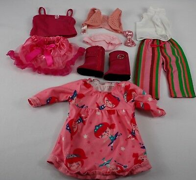 """Doll Clothes Pink LOT Fits 18"""" American Girl, Madame Alexandra,Our Generation"""