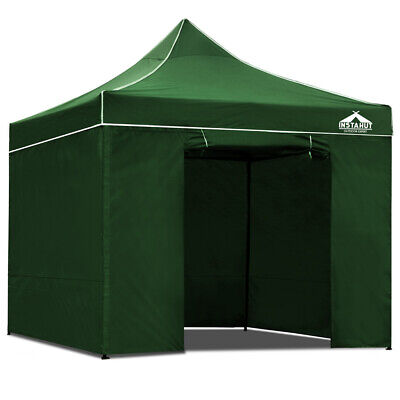 Instahut 3x3m Outdoor Gazebo UV and Water Resistant 4 Height Levels - Green