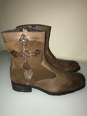 053e6fa0804 STEVE MADDEN REEPER Cross Men's Brown Leather Suede Boots Shoes Size ...
